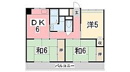 ビレッジハウス城東1号棟[3階]の間取り