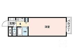 ラ・カーサ・エフ[2階]の間取り