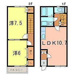 [テラスハウス] 愛知県碧南市鴻島町4丁目 の賃貸【/】の間取り