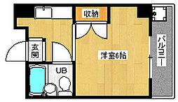 京都府京都市上京区北小路室町の賃貸マンションの間取り