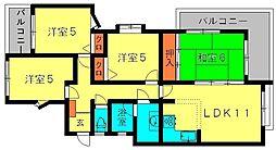 ソレイユメゾン香椎駅東[201号室]の間取り