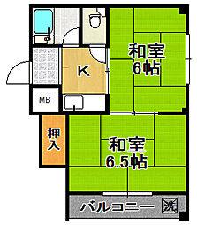 上林マンション[4階]の間取り
