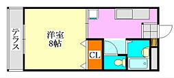 コーポ川島第六[203号室]の間取り