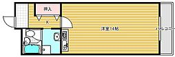 大阪府摂津市別府1丁目の賃貸マンションの間取り