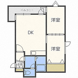 プラザスズ札幌II[4階]の間取り