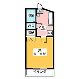 ライベストコート仙台III[3階]の間取り