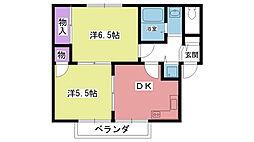 ビーチサイトビラ[2階]の間取り