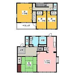[一戸建] 愛知県岡崎市真伝町字魂場 の賃貸【/】の間取り