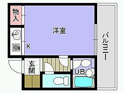 プレステージフジ久米田壱番館[202号室]の間取り