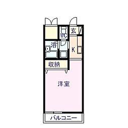 フォブール巴[2階]の間取り