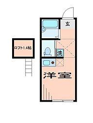 東京都足立区梅田6丁目の賃貸アパートの間取り