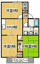 ホームサイト原木[2階]の間取り