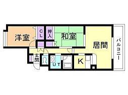 北海道札幌市東区北三十七条東27丁目の賃貸マンションの間取り