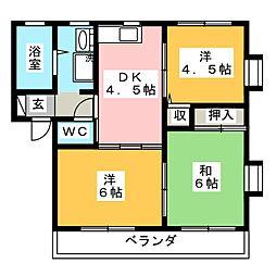 ヴィクトワールB[1階]の間取り
