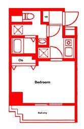 (仮称)反町3丁目マンション 5階1Kの間取り
