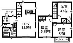 [一戸建] 岡山県倉敷市西富井 の賃貸【/】の間取り