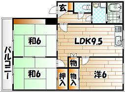 パークコート槻田A棟[3階]の間取り