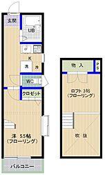 エムビル香椎駅東4[201号室]の間取り