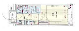 Osaka Metro谷町線 四天王寺前夕陽ヶ丘駅 徒歩5分の賃貸マンション 8階1Kの間取り