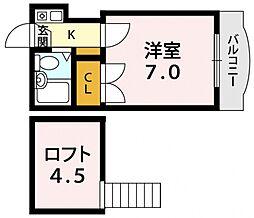 BMハウス平野[1O5号室号室]の間取り