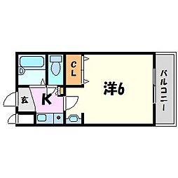 ステラハウス18[1階]の間取り