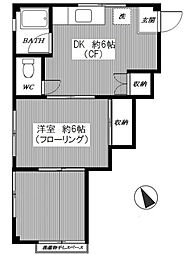 コーポアサカワ[301号室]の間取り