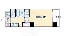 アクアプレイス京都洛南II 7階1Kの間取り