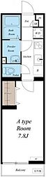 JR総武本線 東千葉駅 徒歩12分の賃貸マンション 2階1Kの間取り