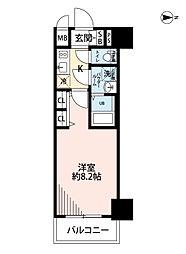 セオリー梅田ドムス 6階1Kの間取り