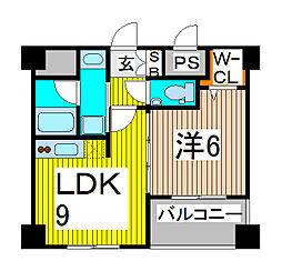 ソアラノーム北浦和[2階]の間取り