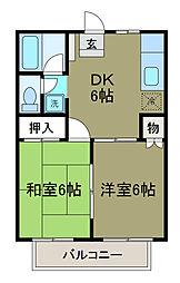レスペ文京エー[2階]の間取り