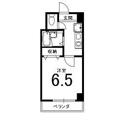 グリーンパークII[413号室]の間取り