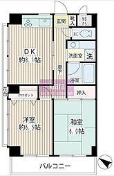 フローラル永田[3階]の間取り