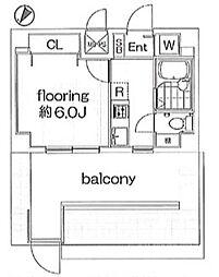 グランヴァン南雪谷 bt[407kk号室]の間取り