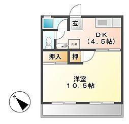 高橋マンション[2階]の間取り