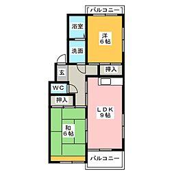 サンシャイン橋本[2階]の間取り