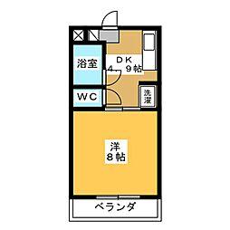 サントール宮竹[1階]の間取り