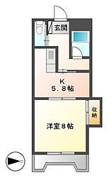 第1奥村マンション[4階]の間取り