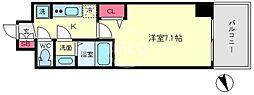 プレサンスOSAKA DOMECITYクロスティ(プレサンスオオサカドーム 13階1Kの間取り