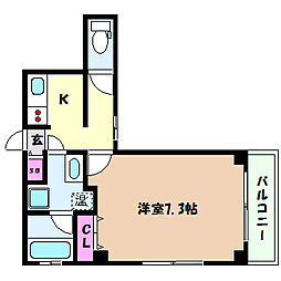 阪急神戸本線 王子公園駅 徒歩5分の賃貸マンション 1階1Kの間取り