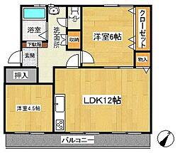 名瀬マンション[1階]の間取り