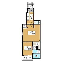 カルム笠寺[1階]の間取り