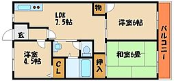 ドミールオークラ[2階]の間取り