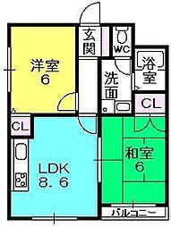 ソレーユ神垣[303号室]の間取り