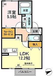 仮)D-room梅満町[202号室]の間取り