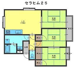 セラヒム25[2階]の間取り