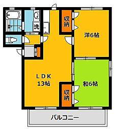 MTシャーメゾン D棟[201号室]の間取り