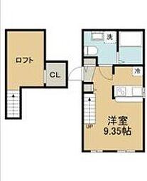 東武伊勢崎線 北越谷駅 徒歩3分の賃貸アパート 1階1Kの間取り