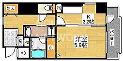 ライオンズマンション四条堀川第2[706号室号室]の間取り