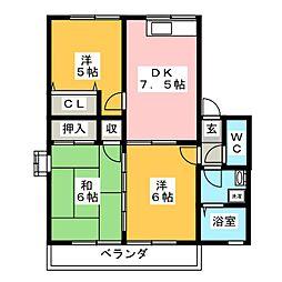 レトアC棟[1階]の間取り